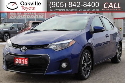 Certified Pre-Owned 2015 Toyota Corolla S Upgrade | Includes Sunroof, Alloy Rims, and Leather Seats
