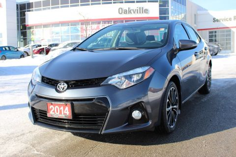 Pre-Owned 2014 Toyota Corolla S w/ Bluetooth & Backup Camera FWD 4dr Car