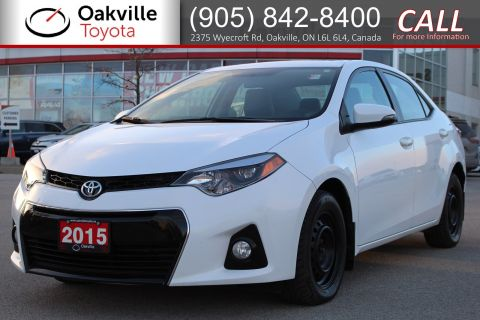 Certified Pre-Owned 2015 Toyota Corolla S Recent Trade-in with Winter Tires and Low Kilometres