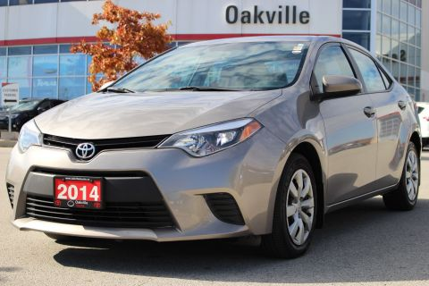 Certified Pre-Owned 2014 Toyota Corolla LE with Rearview Camera