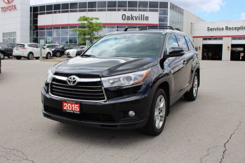 Pre-Owned 2015 Toyota Highlander Limited w/ Navigation, Panoramic Moonroof and Leather AWD