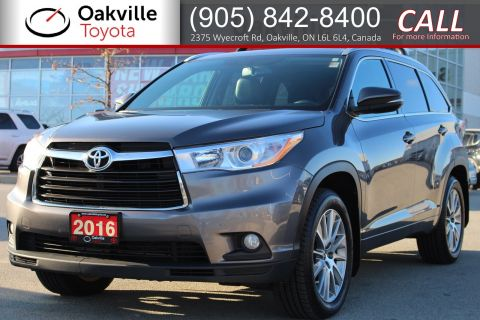Pre-Owned 2016 Toyota Highlander XLE 8-Passenger with Clean Carfax, Single Owner, and New Tires