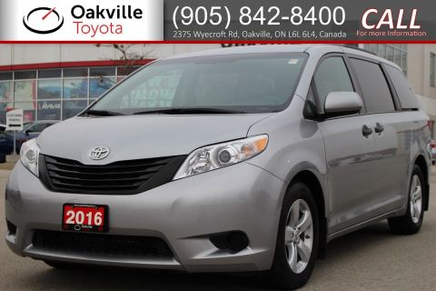 Certified Pre-Owned 2016 Toyota Sienna FWD with Low Kilometres and Single Owner FWD Mini-van, Passenger