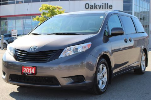 Pre-Owned 2014 Toyota Sienna CE Automatic with Clean CarProof FWD Mini-van, Passenger