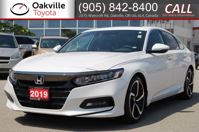 Pre-Owned 2019 Honda Accord Sedan Sport with Clean Carfax and One Owner