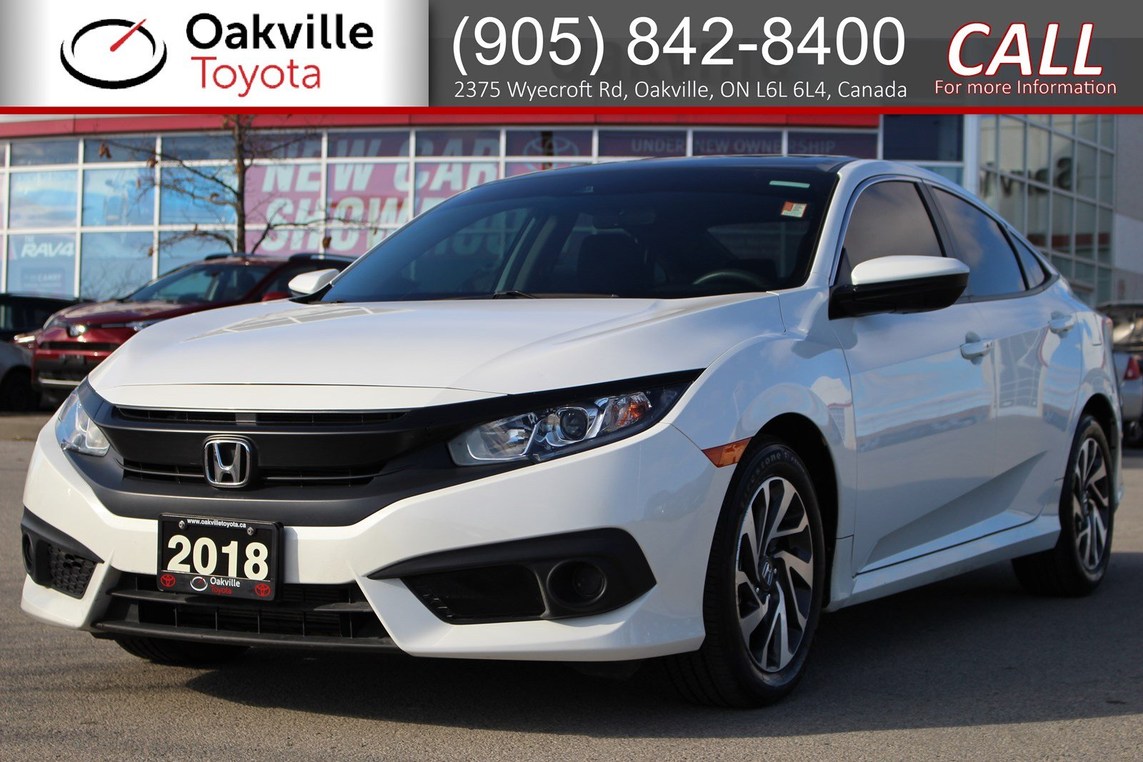 Pre-Owned 2018 Honda Civic Sedan EX with Single Owner and Clean Carfax