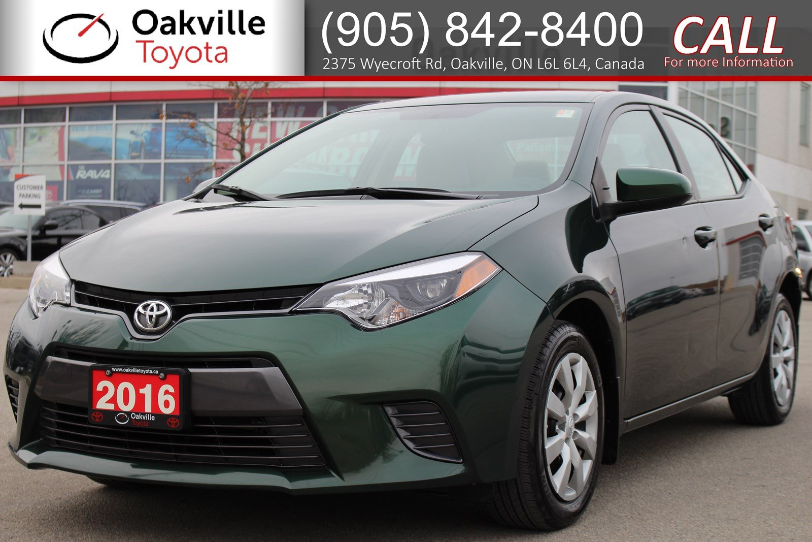 Certified Pre-Owned 2016 Toyota Corolla LE with Full Toyota Service History