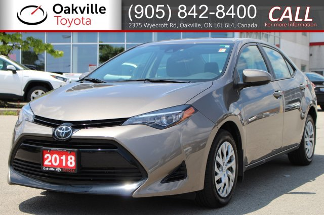 Certified Pre-Owned 2018 Toyota Corolla LE with Clean Carfax and One Owner