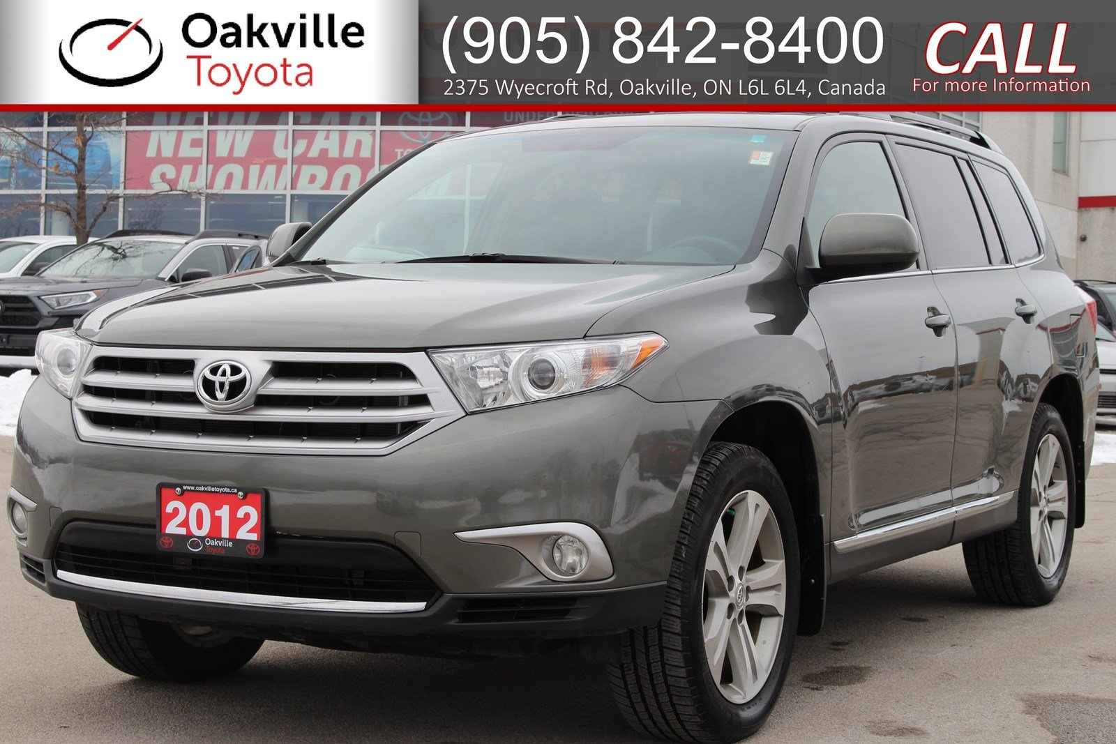 Pre-Owned 2012 Toyota Highlander 4WD with Low Kilometres