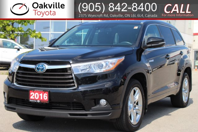 Pre-Owned 2016 Toyota Highlander Hybrid Limited AWD with Clean Carfax