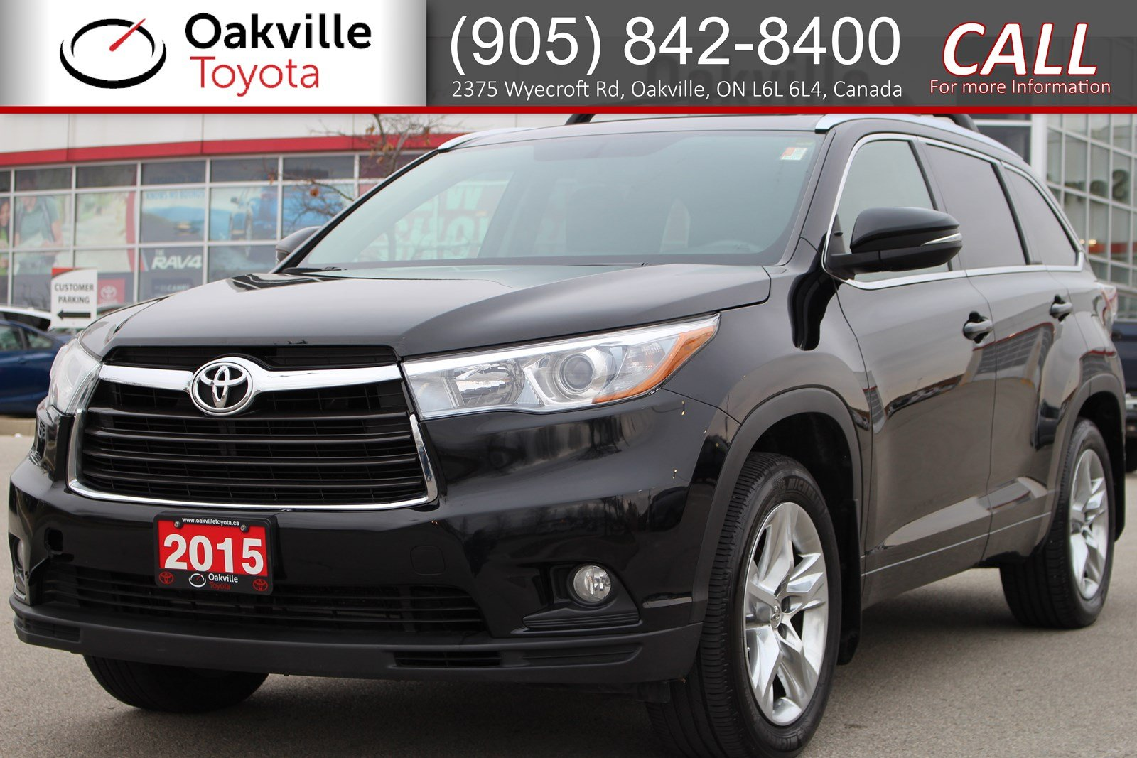 Pre-Owned 2015 Toyota Highlander Limited with Clean Carfax and Single Owner