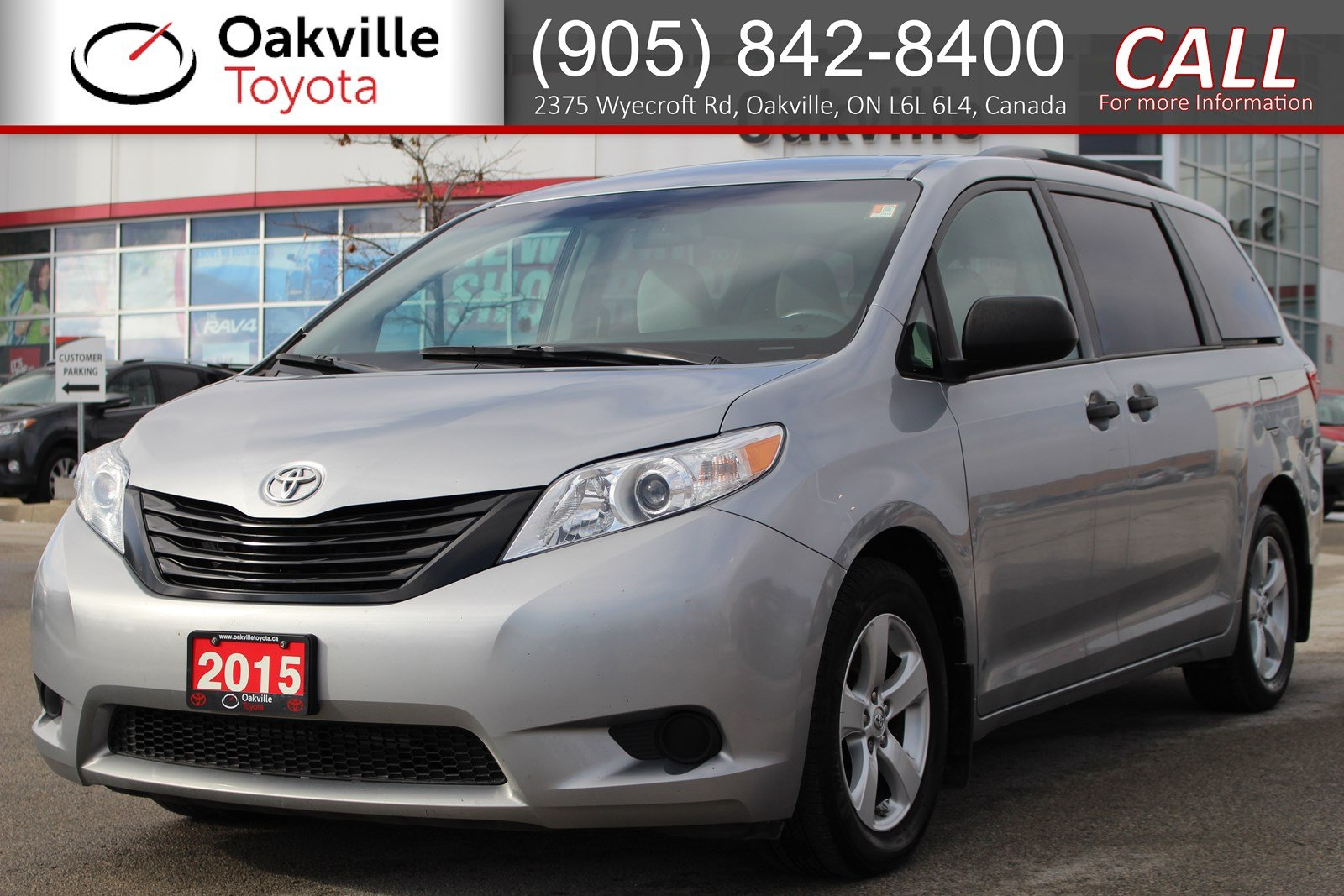 Certified Pre-Owned 2015 Toyota Sienna FWD with Clean Carfax and Single Owner