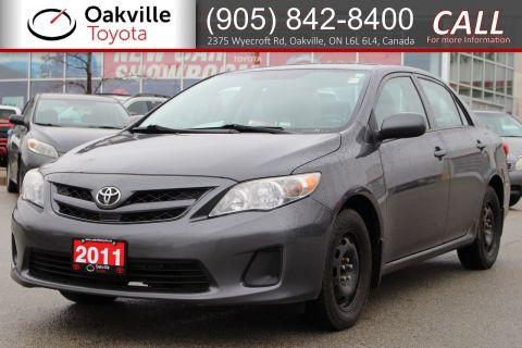 Pre-Owned 2011 Toyota Corolla CE 5-Speed with Winter Tires FWD 4dr Car