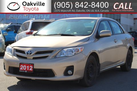 Pre-Owned 2012 Toyota Corolla CE with Remote Starter and Clean Carfax
