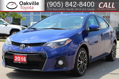 Certified Pre-Owned 2016 Toyota Corolla S with Navigation and Clean Carfax