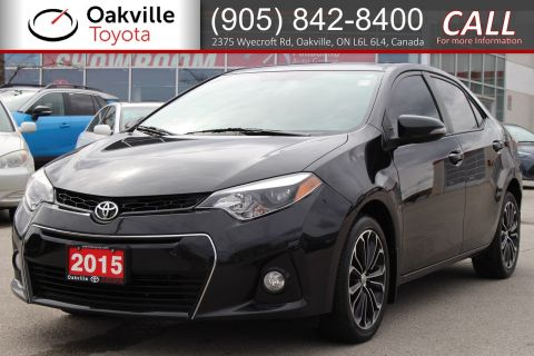 Pre-Owned 2015 Toyota Corolla S with Low Kilometres and Single Owner FWD 4dr Car