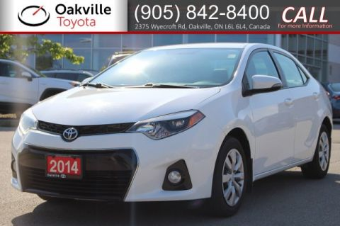 Pre-Owned 2014 Toyota Corolla S Manual with One Owner
