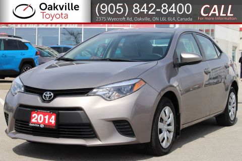 Certified Pre-Owned 2014 Toyota Corolla LE with Clean Carfax and Single Owner FWD 4dr Car