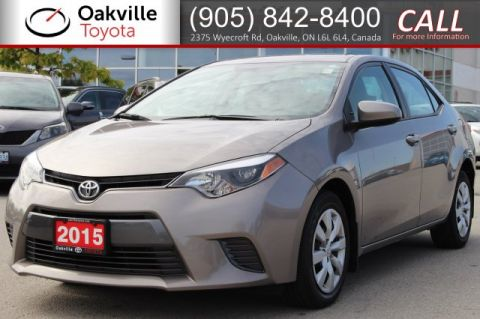 Pre-Owned 2015 Toyota Corolla LE with Clean Carfax and One Owner