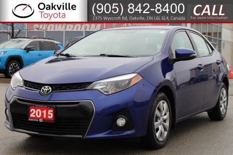 Pre-Owned 2015 Toyota Corolla S with Clean Carfax and Single Owner