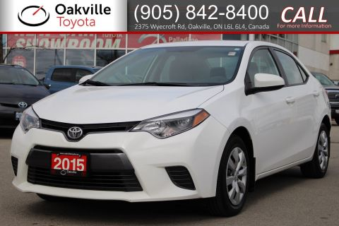 Pre-Owned 2015 Toyota Corolla LE with Clean Carfax and Single Owner
