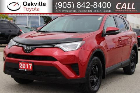 Pre-Owned 2017 Toyota RAV4 LE AWD with Hood Deflector, Clean Carfax and Single Owner