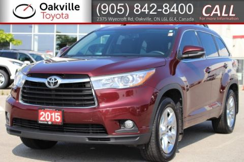 Certified Pre-Owned 2015 Toyota Highlander Limited AWD with Clean Carfax and One Owner