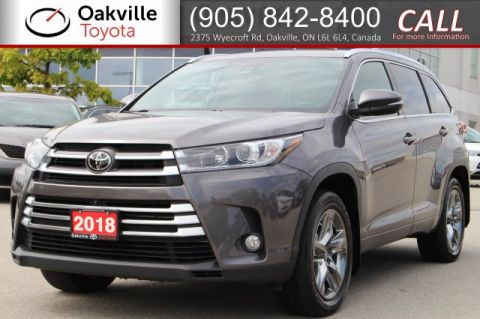 Pre-Owned 2018 Toyota Highlander Limited AWD with Clean Carfax and One Owner